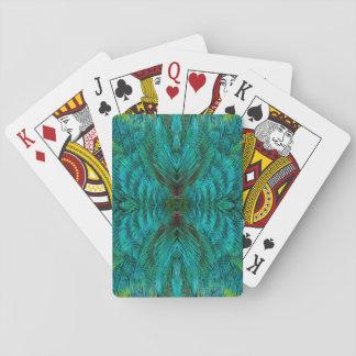 Kaleidoscope Feather Design Playing Cards
