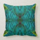 Kaleidoscope Feather Design Throw Pillow