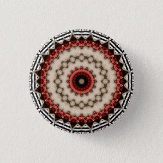 Kaleidoscope Floral Mandala in Slovenia: Ed. 210.2 1 Inch Round Button