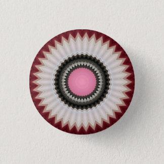 Kaleidoscope Floral Mandala in Slovenia: Ed. 211.7 1 Inch Round Button