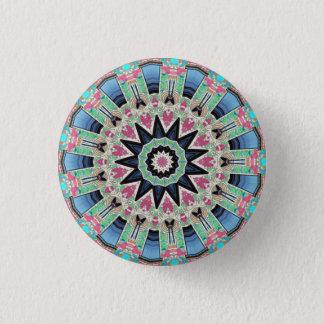 Kaleidoscope Floral Mandala in Vienna: Ed. 220.9 1 Inch Round Button