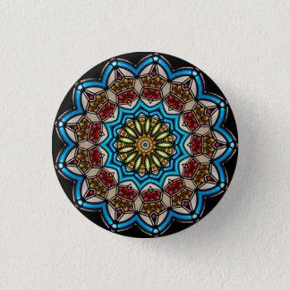 Kaleidoscope Floral Mandala in Vienna: Ed. 221.7 1 Inch Round Button
