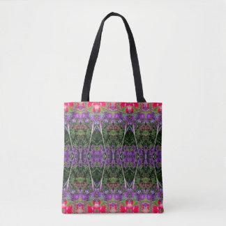 Kaleidoscope Flower Pattern 14 Medium Tote Bag