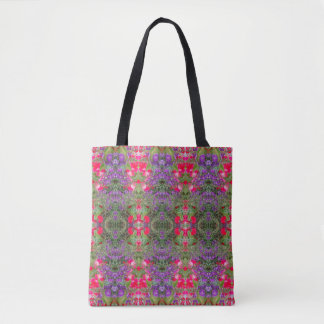 Kaleidoscope Flower Pattern 21 Medium Tote Bag