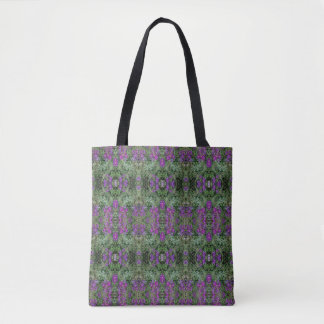 Kaleidoscope Flower Pattern 27 Medium Tote Bag