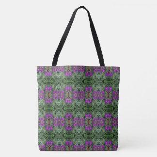 Kaleidoscope Flower Pattern 28 LARGE Tote Bag