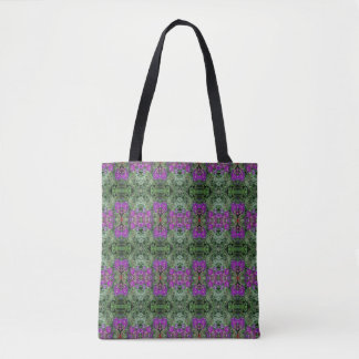 Kaleidoscope Flower Pattern 28 Medium Tote Bag