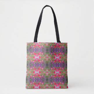 Kaleidoscope Flower Pattern 31 Medium Tote Bag