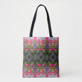 Kaleidoscope Flower Pattern 9 Medium Tote Bag