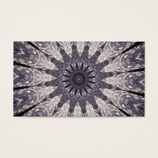 Kaleidoscope Flower Shades of Blue and Grey Business Card