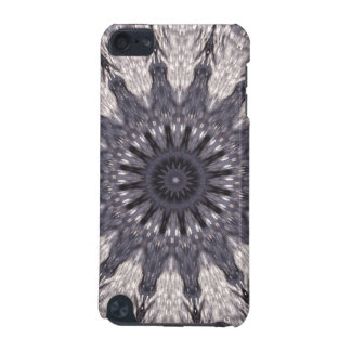 Kaleidoscope Flower Shades of Blue and Grey iPod Touch 5G Case