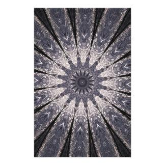 Kaleidoscope Flower Shades of Blue and Grey Stationery