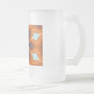 Kaleidoscope frosted glass frosted glass beer mug