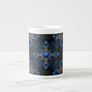 Kaleidoscope Golden Blue x75 Bone China Mug