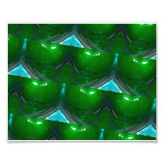 kaleidoscope Green apple's Photo Print