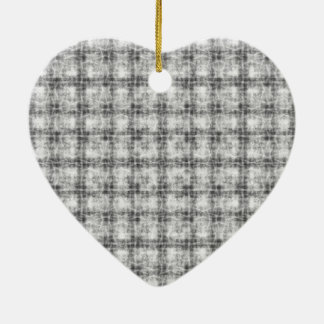 Kaleidoscope grey ceramic heart ornament