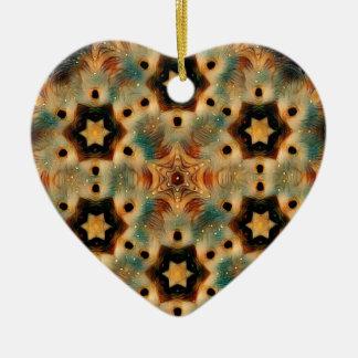 Kaleidoscope Hedgehog, Brown and Blue Ceramic Ornament