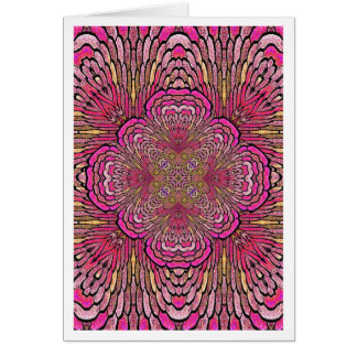 Kaleidoscope in Pink Card Notecard