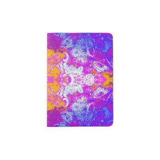 Kaleidoscope in pink/yellow/purple passport holder