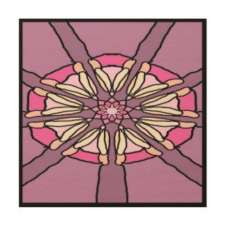 Kaleidoscope in Purple and Pink Wood Print