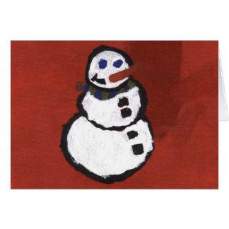 Kaleidoscope Kid Card - Snowman