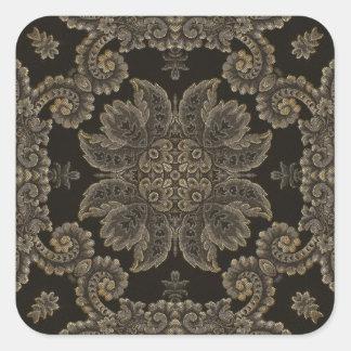 Kaleidoscope Kreations Black Tapestry 3 Square Sticker