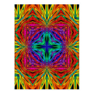 Kaleidoscope Kreations Flashing Fractal No2 Postcard