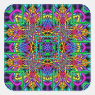 Kaleidoscope Kreations Fun Fractals No 2 Square Sticker
