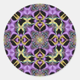 Kaleidoscope Kreations Lemon & Lilac No 1 Classic Round Sticker