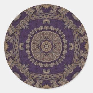 Kaleidoscope Kreations Purple & Gold 3 Round Sticker