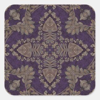 Kaleidoscope Kreations Purple & Gold 4 Square Sticker