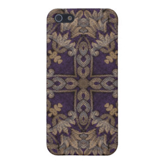 Kaleidoscope Kreations Purple & Gold Case For The iPhone 5