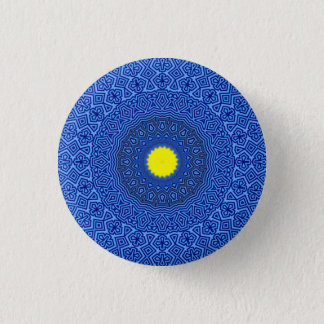 Kaleidoscope Mandala in Belgium LIMITED EDITION!!! 1 Inch Round Button