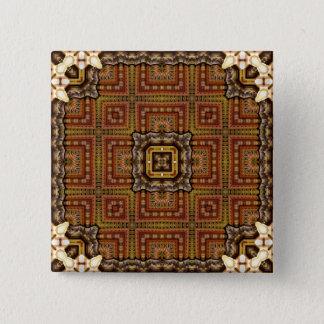 Kaleidoscope Mandala in Hungary: Matthias Pattern 2 Inch Square Button