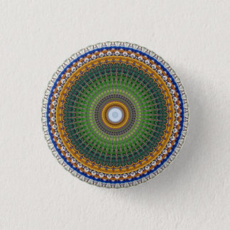 Kaleidoscope Mandala in Portugal: Embassy Pattern 1 Inch Round Button
