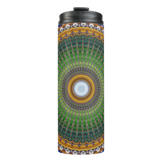 Kaleidoscope Mandala in Portugal: Embassy Pattern Thermal Tumbler