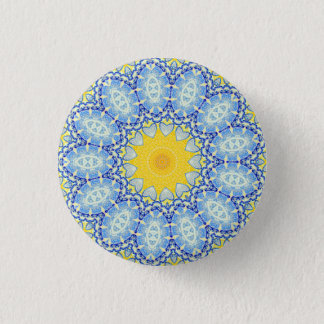 Kaleidoscope Mandala in Portugal: Pattern 224.10 1 Inch Round Button