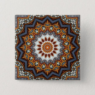 Kaleidoscope Mandala in Portugal: Pattern 224.11 2 Inch Square Button