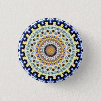 Kaleidoscope Mandala in Portugal: Pattern 224.3 1 Inch Round Button