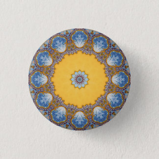 Kaleidoscope Mandala in Portugal: Pattern 224.4 1 Inch Round Button