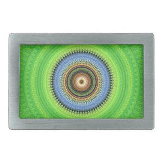 Kaleidoscope Mandala in Portugal: Pattern 224.5 Rectangular Belt Buckle