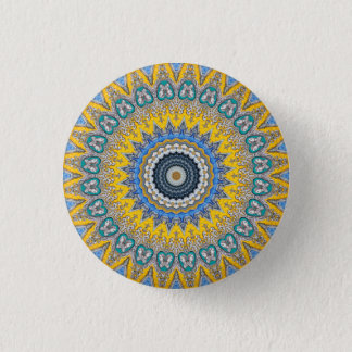 Kaleidoscope Mandala in Portugal: Pattern 224.8 1 Inch Round Button
