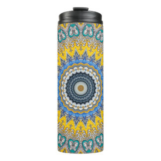 Kaleidoscope Mandala in Portugal: Pattern 224.8 Thermal Tumbler
