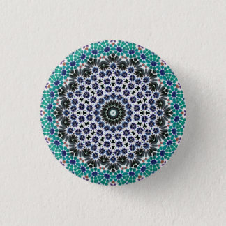 Kaleidoscope Mandala in Portugal: Pattern 224.9 1 Inch Round Button