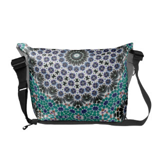 Kaleidoscope Mandala in Portugal: Pattern 224.9 Courier Bag