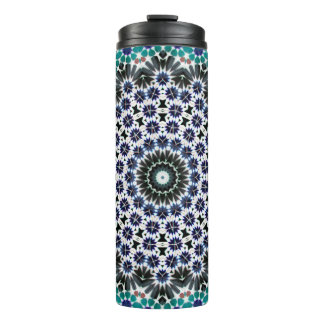 Kaleidoscope Mandala in Portugal: Pattern 224.9 Thermal Tumbler