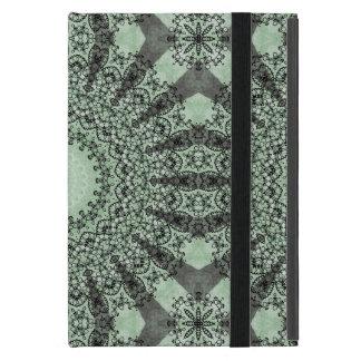 Kaleidoscope Mandala in Shades of Green Case For iPad Mini