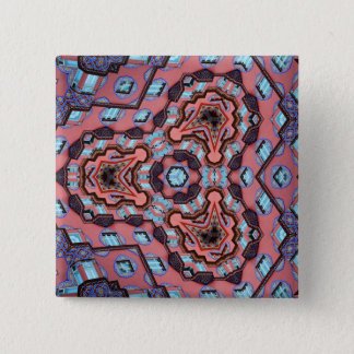 Kaleidoscope Mandala in Slovenia: Escher Pattern 2 Inch Square Button