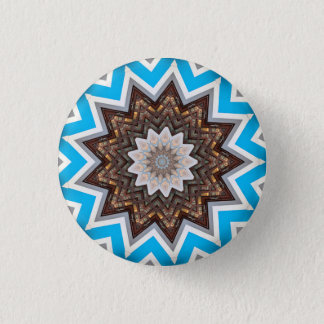 Kaleidoscope Mandala in Slovenia: Pattern 213.1 1 Inch Round Button