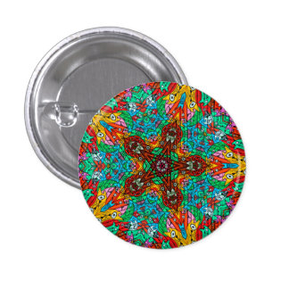 Kaleidoscope Mandala in Slovenia: Pattern 213.4 1 Inch Round Button
